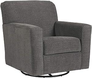 Signature Design by Ashley - Alcona Swivel Glider Accent Chair, Gray