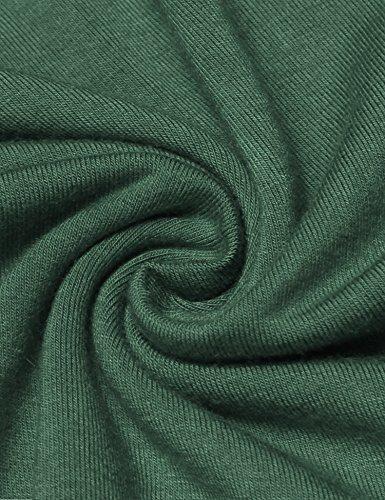 Maglietta Top Casual Camicia Backless Halter Crop Unibelle Verde Oliva Shirts Maglia T Donna Elegante Camicetta Maniche Elasticizzato Sportivo Vintage Tops Cami Senza Sexy Estive Moda Corta g7X7xT
