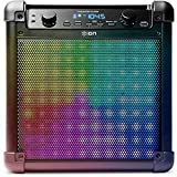 ION Audio Tailgater Flash 2-way Bluetooth Rechargeable Speaker with Sound Reactive LED Dynamic Light Show Mode Includes Microphone, Black Finish