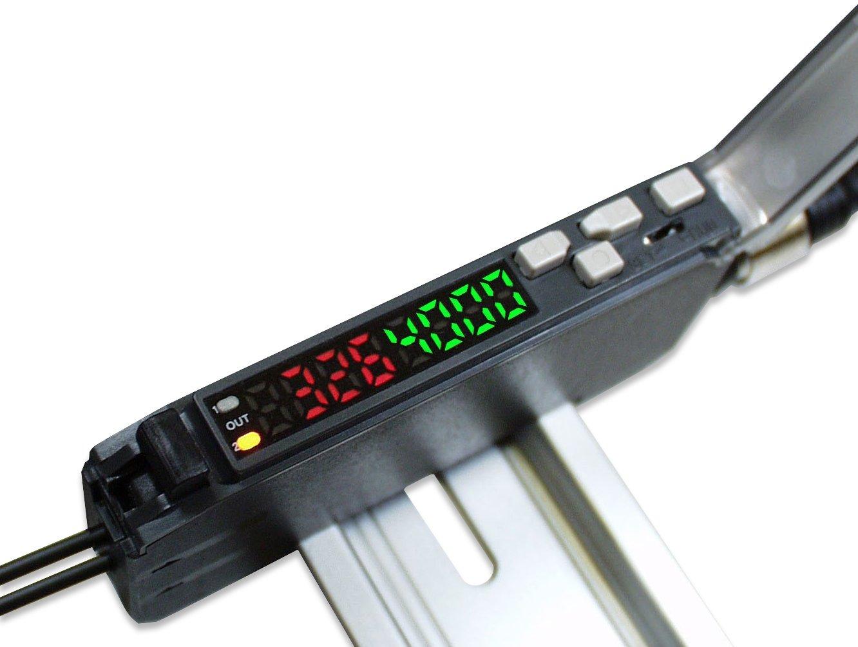 Optex FA push-button teach fiber optic amplifier with dual LED display NPN ouput M8 4P QD type
