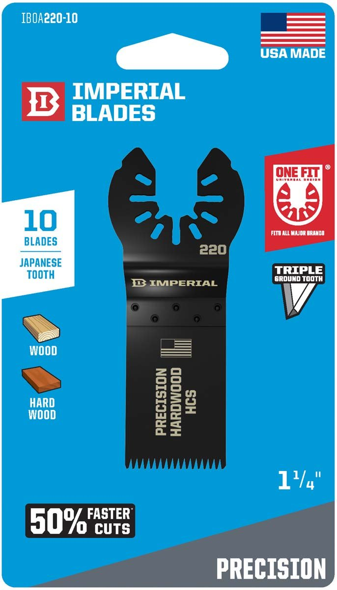 Imperial Blades IBOA220-10 Universal Fitment 1-1/4'' Japanese Precision Blade, 10 PK