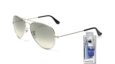 Image Unavailable. Image not available for. Color  Ray Ban RB3025 003 32  55mm Silver Aviator ... d7ad45553e31