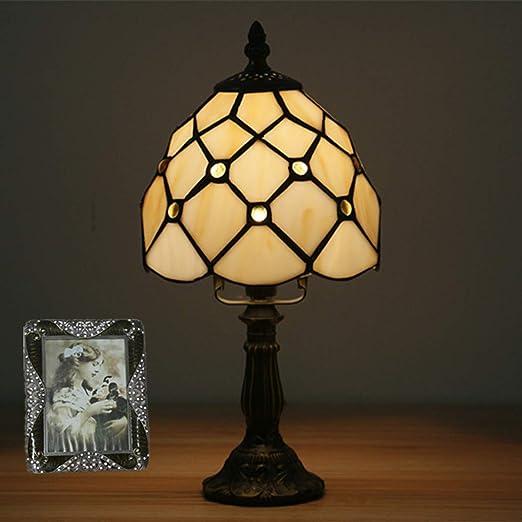 GDLight Mini lámpara de Mesa Estilo Vintage de Tiffany, lámpara de ...