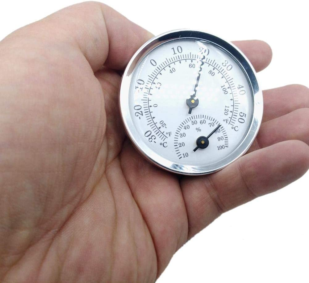 for Indoor and Outdoor Use Trendy Dial Type Thermometer//Hygrometer High Precision Mini Temperature and Humidity Measuring Instrument