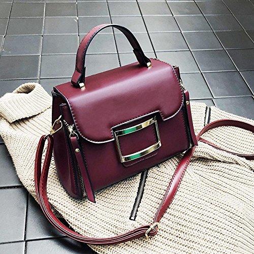 Aoligei Petit sac Vintage sac fashion unique épaule diagonal sac seau cent tours A