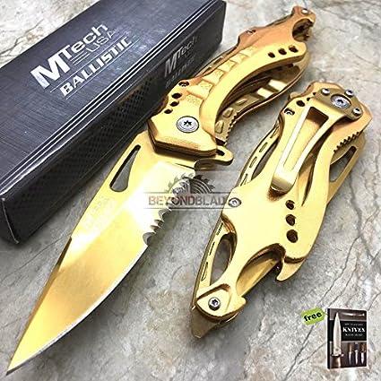 Amazon.com: Mtech USA - Cuchillo de afeitar de acero al ...