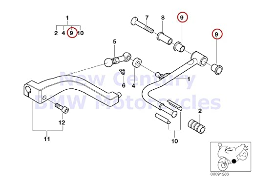 Amazon Com 2 X Bmw Genuine Motorcycle External Gearshift Parts