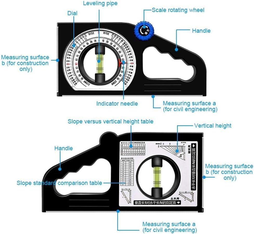 MOGOI Hochpr/äzise Neigungswinkel-Messger/ät Multifunktions Level-Winkelmesser Winkelmesser Schr/ägmesser Lineal Werkzeuge horizontaler vertikaler Winkel Declinometer magnetische Neigungsmesser