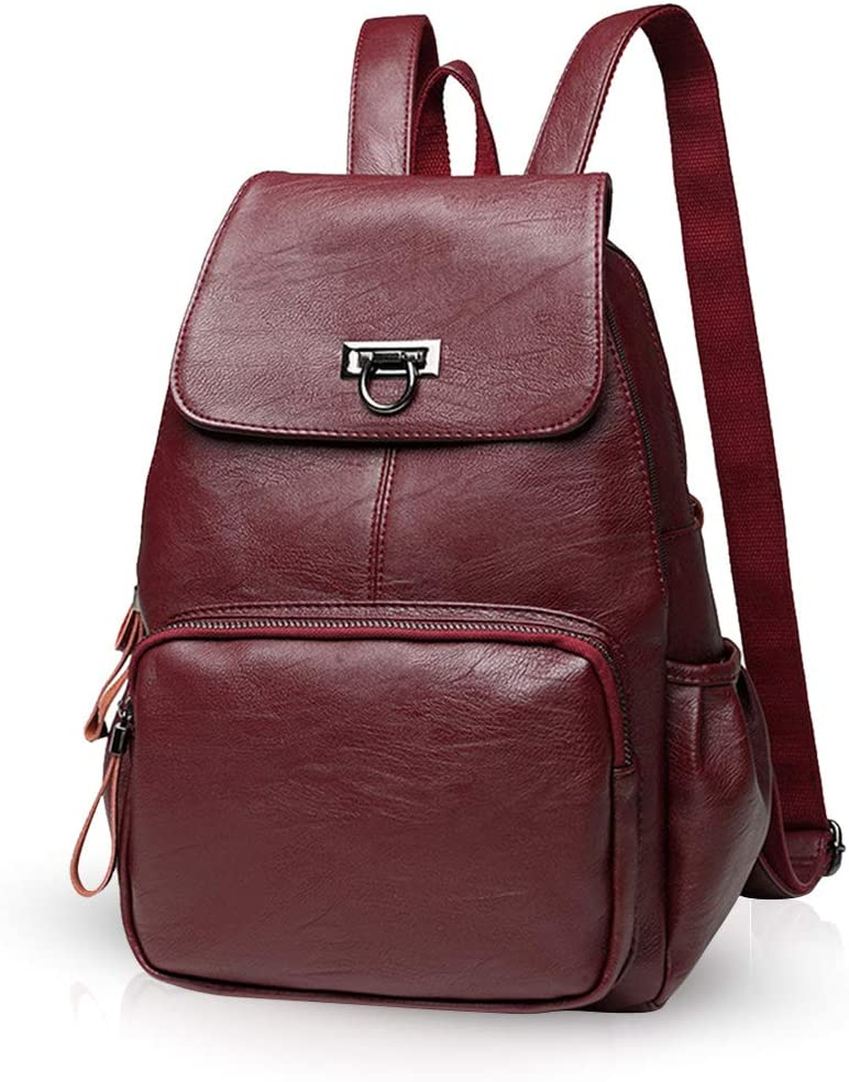 NICOLE DORIS Woman Leather Backpack Casual daypack ladies leather rucksack