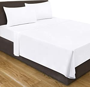 Utopia Bedding Queen Flat Sheet (White)