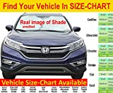 #7: Windshield Sun Shade Exact Fit Size Chart for Cars Suv Trucks Minivans Sunshades Keeps Your Vehicle Cool Heat Shield Small