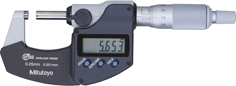 Mitutoyo Digital Bügelmessschraube Serie 293 Ohne Datenausgang Ip65 Messbereich 0 25 Mm 1 Stück 293 240 30 Baumarkt