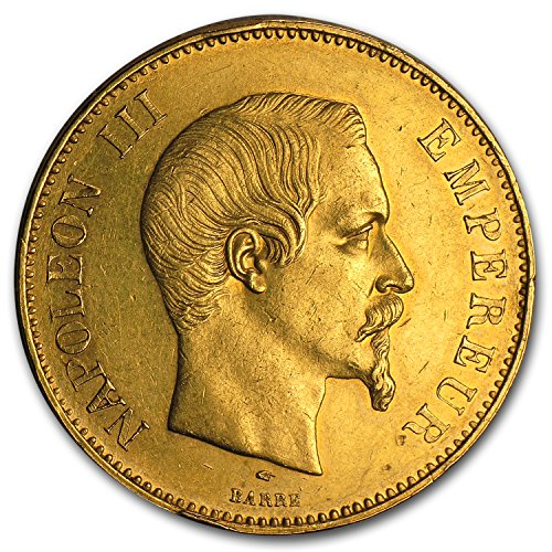 1855 FR - 1859 France Gold 100 Francs Napoleon III AU Gold About Uncirculated - Napoleon Gold Coin