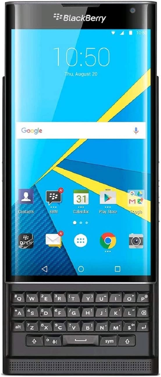 BlackBerry PRIV Carrier Unlocked GSM Android Smartphone w/Slide-Out Physical Keyboard - Black 612BwIG9y5nL