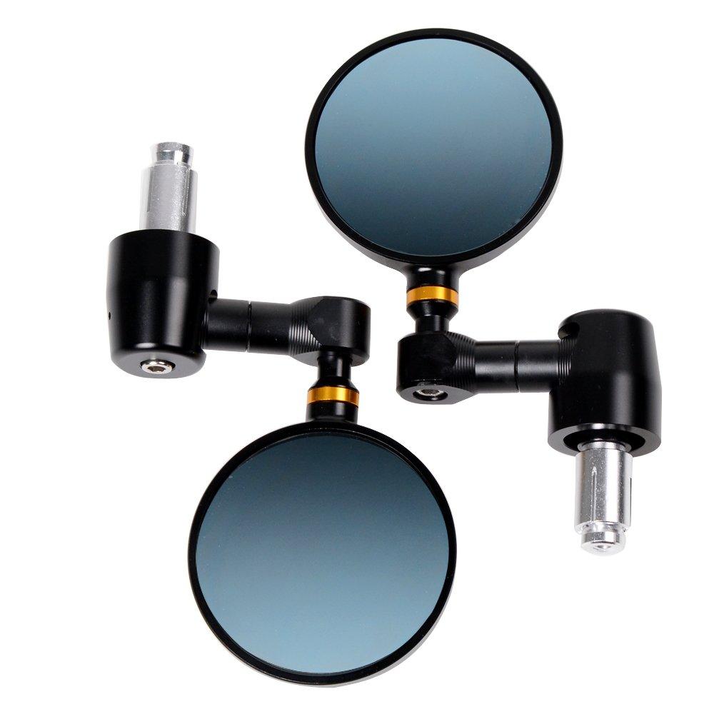 NEW CLASSIC Adjustable 3'' Convex Round CNC Billet Bar End Side Mirrors Clubman Café Racer Street Sport Bike