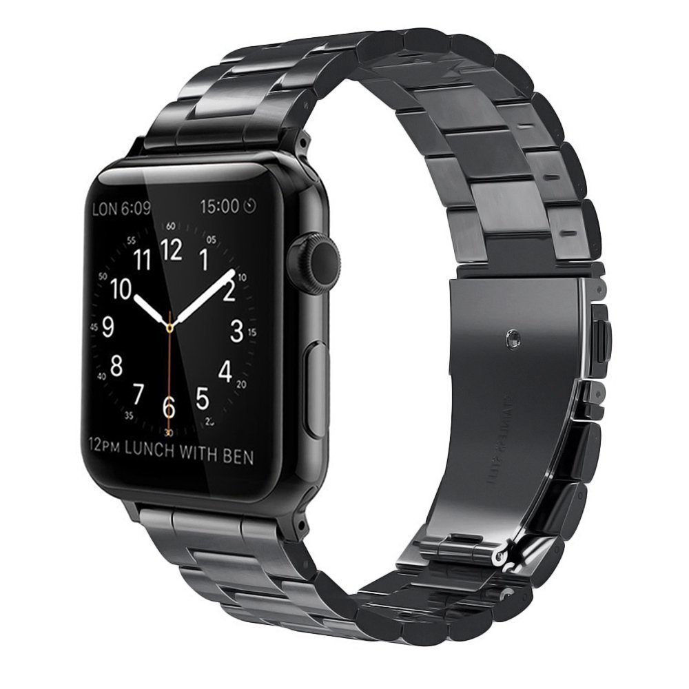 For iWatch Apple Watch Series 3 2 1 42mm Stainless Steel ...