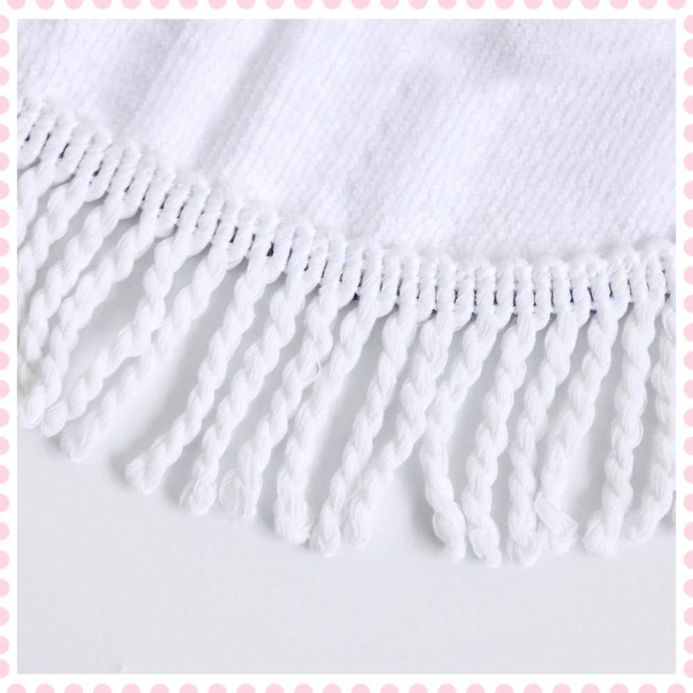 Morbuy Toalla de Playa Redonda La Playa Tapiz de Pared Manta Mandala para Toalla Yoga Acampar Picnic Mantel Decoración, 100% Microfibra Tassel Beach Towel ...
