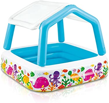 Amazon.com: Piscina inflable Intex con sombra, 62 x 62 x 48 ...