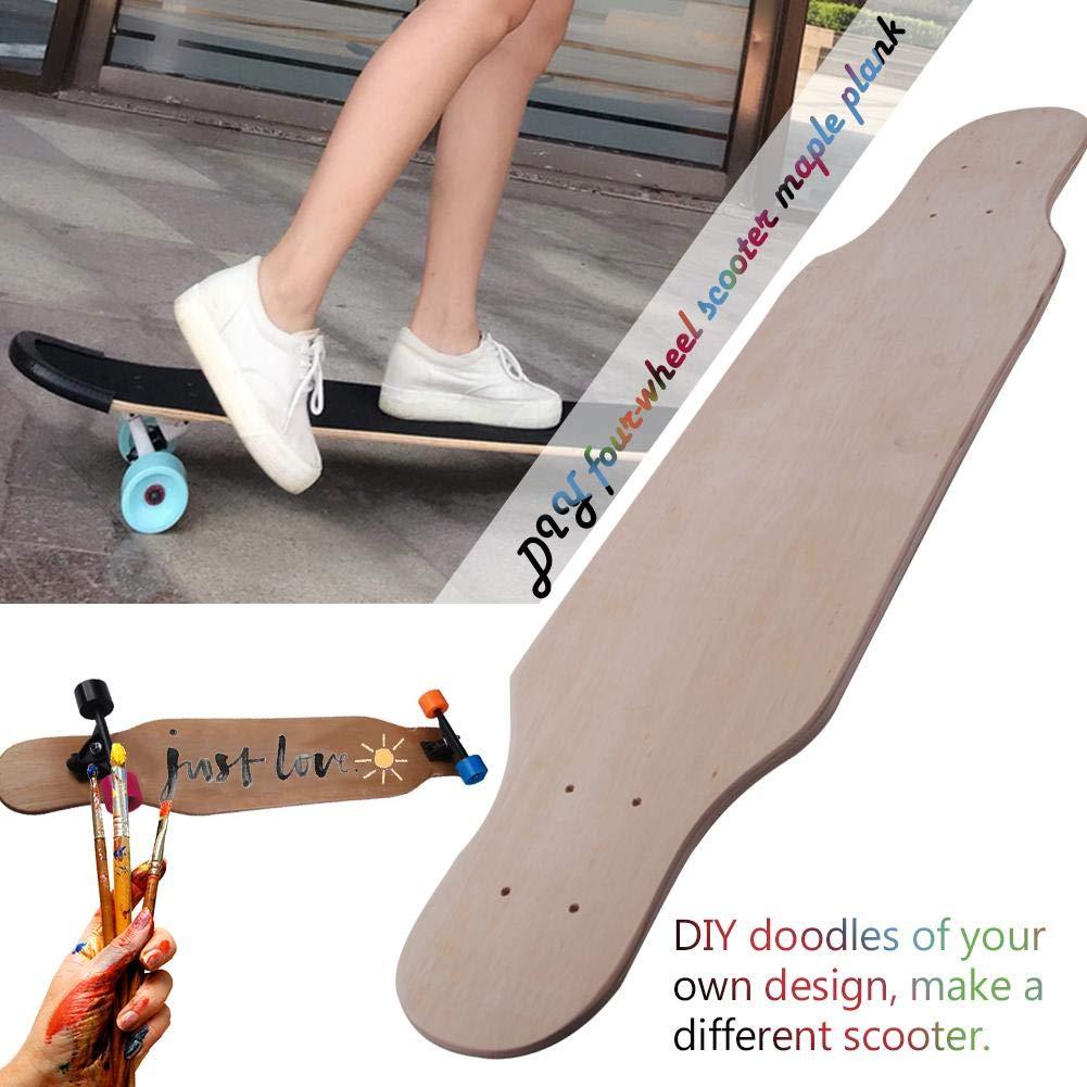 gaeruite Blank Skateboard Deck,7.87inch DIY Graffiti Natural Maple Skate Deck