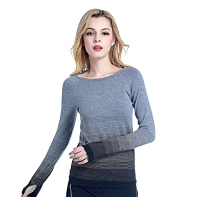 42a250a5aa5 Balai Women Gym Sports Shirt Yoga Top Fitness Running Long Sleeve T-Shirt  Tops  Amazon.co.uk  Clothing