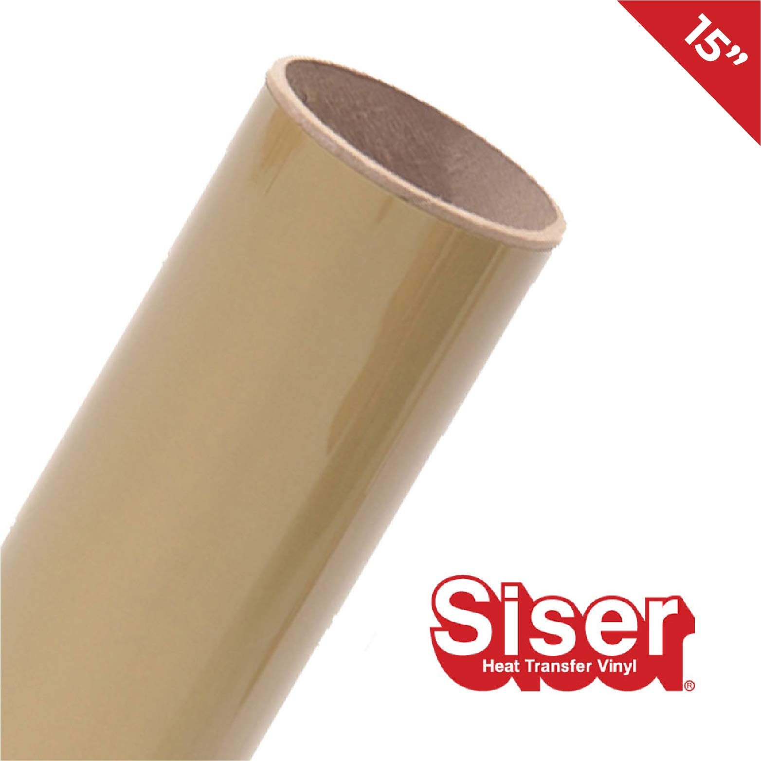 Siser EasyWeed HTV 15'' x 25ft Roll - Iron on Heat Transfer Vinyl (Gold) by SISER