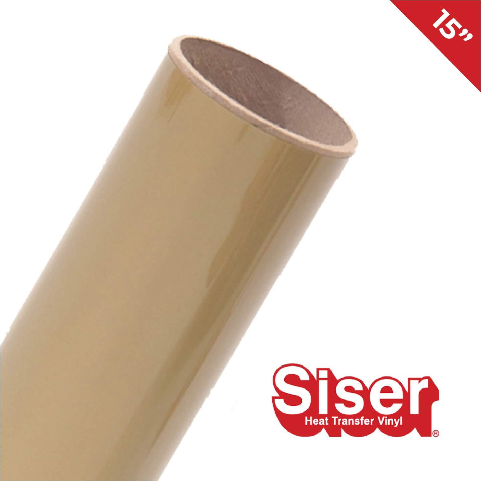 Siser EasyWeed HTV 15'' x 25ft Roll - Iron on Heat Transfer Vinyl (Gold)