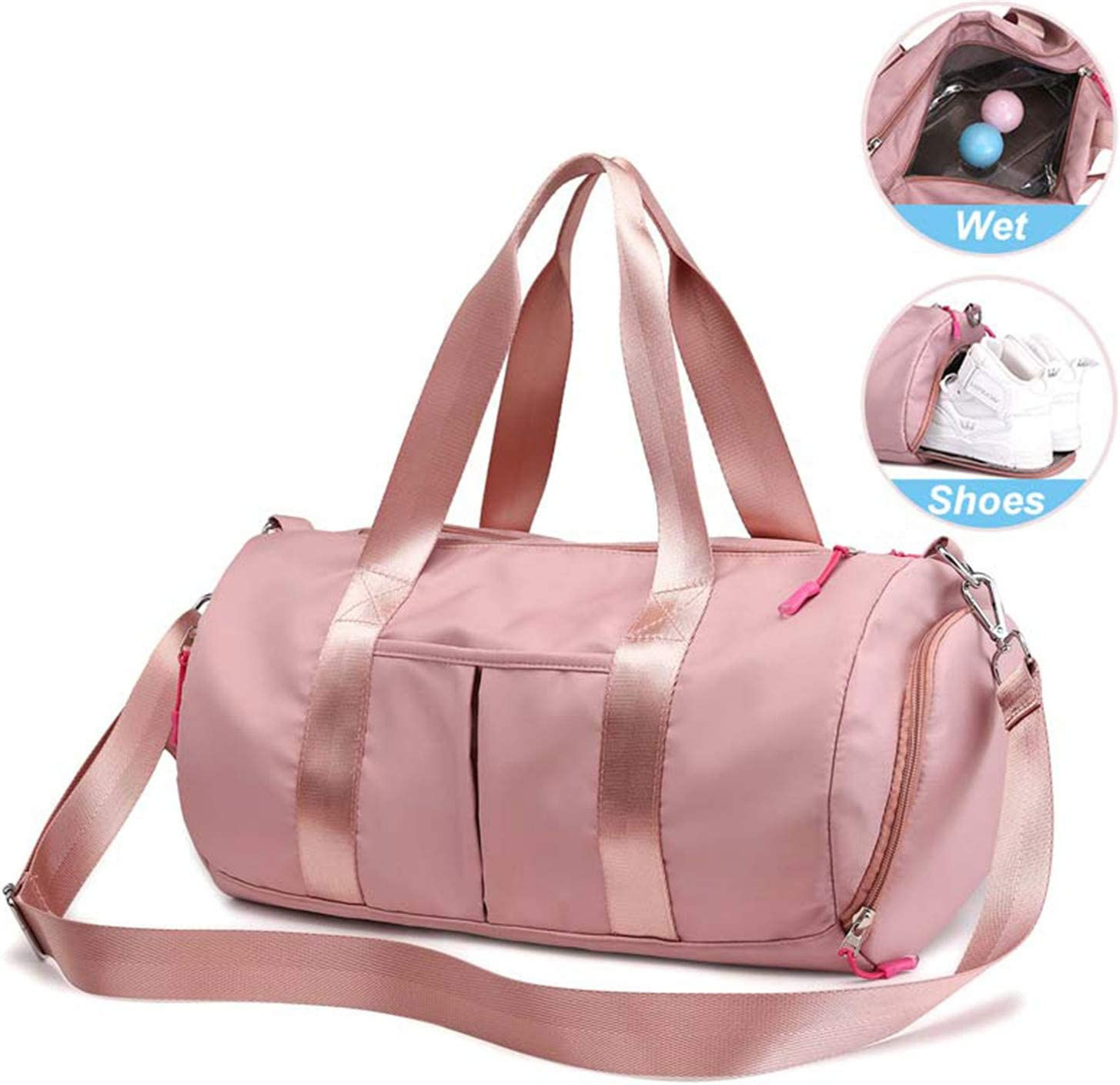 Pink Dry Wet Bag Fitness Gym Bags For Women Men Yoga Mat Tas Travel Training Sac De Sport Gymtas Sac De Sport Sporttas New XA85A Black M