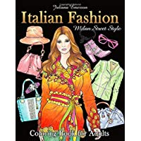 Italian Fashion Milan Street Style Coloring Book for Adults