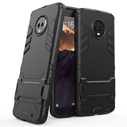 Amazon.com: Moto G6 Plus funda, Moto G6 Plus carcasa híbrida ...