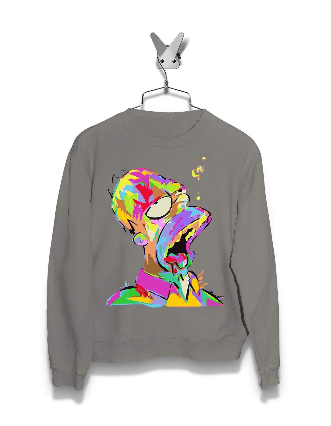 Short Tees Sleeve Graphic Fashion Men Hoodie /& Sweatshirts Painted Homer Streetwear The Simpsons