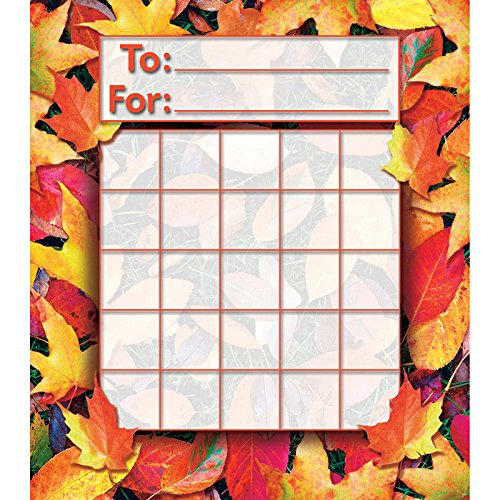 North Star Teacher Resource NST2213 Fall Leaves Mini Incentive Charts, Pack of 36