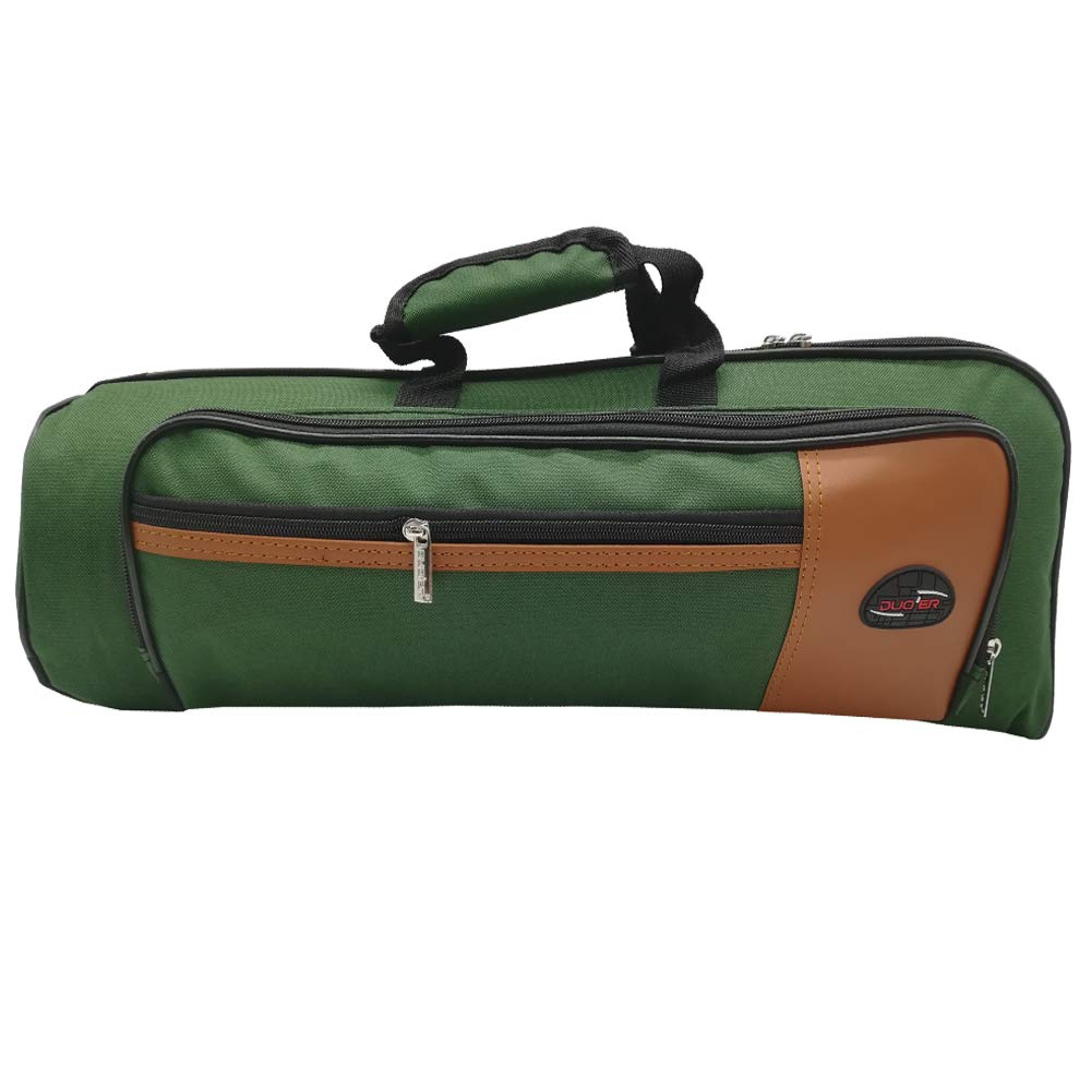 Xinlinke Trumpet Gig Bag 15mm Padded Soft Case Green