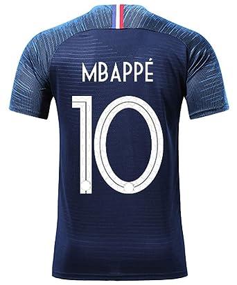 Silver Basic T-Shirt de Sport Garçon Champion Coupe du Monde 2018 France 2  étoiles Maillot de Footall  Amazon.fr  Vêtements et accessoires 04c06aea387c