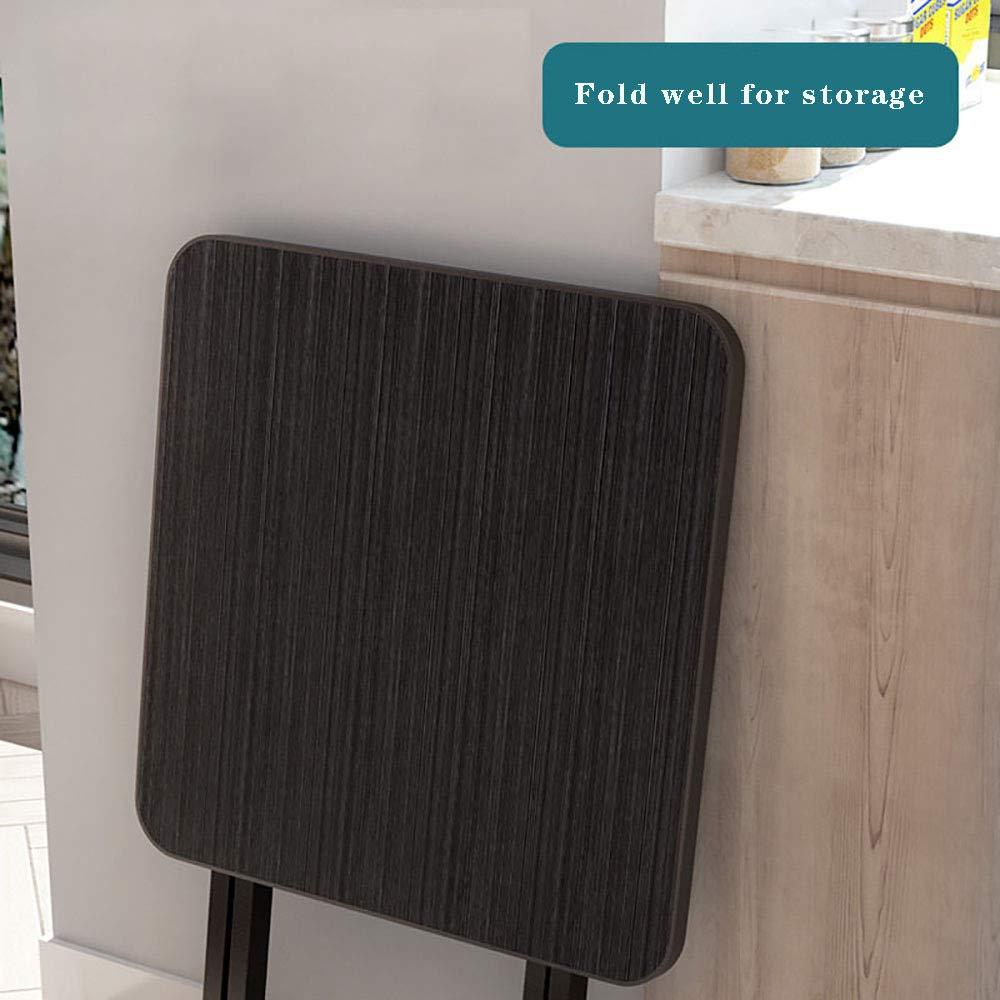 GKZJ Matbord fällbart skrivbord för små utrymmen fällbart bord matbord hushåll enkel bärbar liten lägenhet matbord stall utomhusbord, svart 70 x 70 cm Black 60*60cm