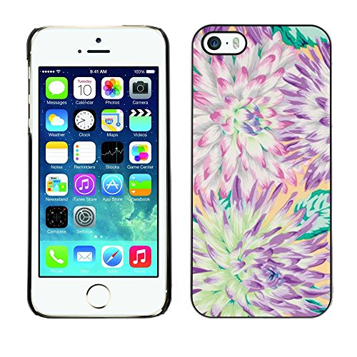 Soft Silicone Rubber Case Hard Cover Protective Accessory Compatible with Apple iPhone? 5 & 5S - flower chrysanthemum summer petal