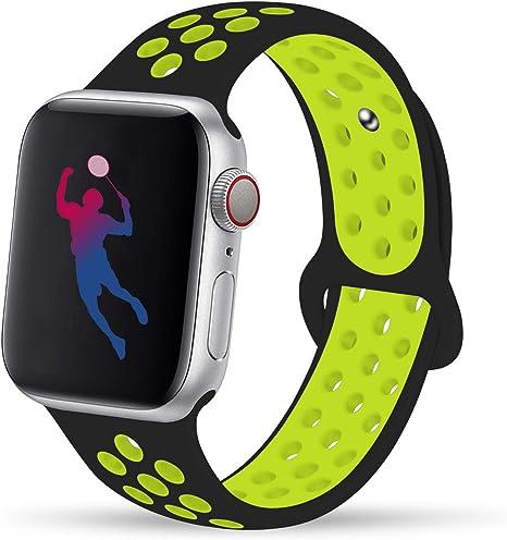 Illuminare Fatto per ricordare Pakistan  Bluebee Apple Watch Cinturino Verde Nero: Amazon.it: Sport e tempo libero