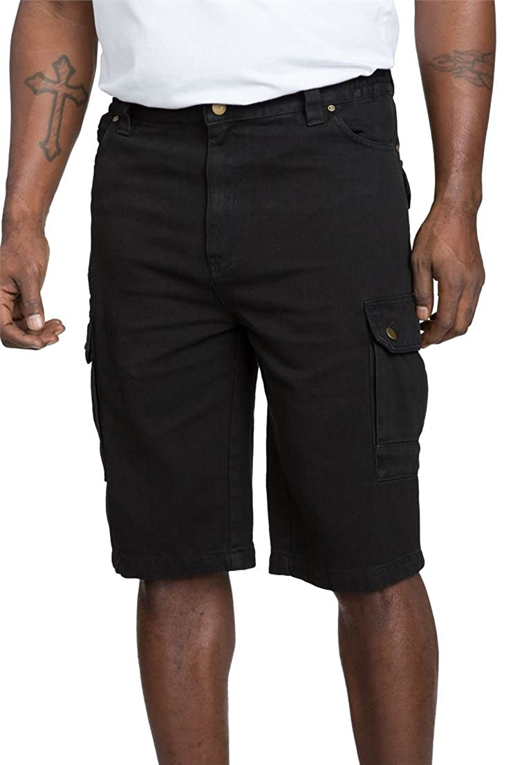 Liberty Blues Men's Big & Tall Denim Cargo Shorts Black Tall-40 27723705132mk40~40