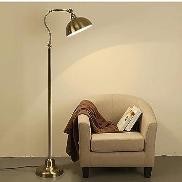 Lámpara de pie Lámpara de Piso Bronce All American/Simple ...