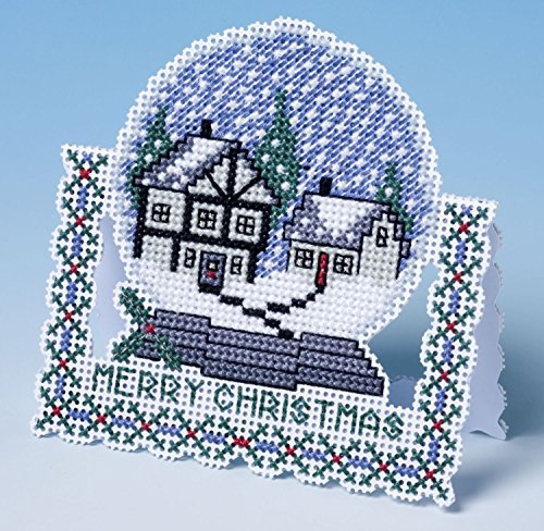 The Nutmeg Company Snow Globe Christmas Card 3D Cross Stitch Kit