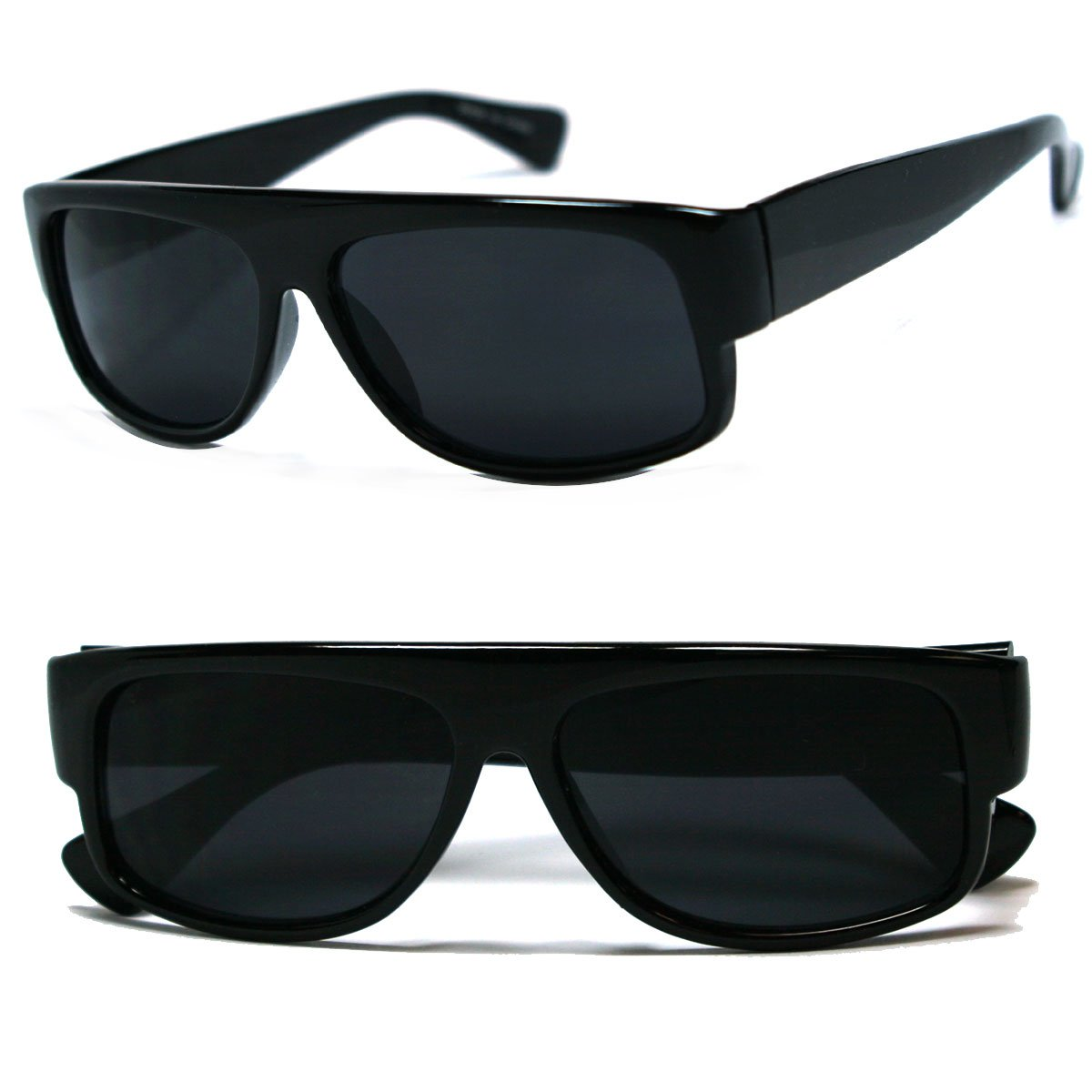 Original OG Mad Dogger Locs Shades Sunglasses w/ Super Dark Lens (Black) 8443-BLK2