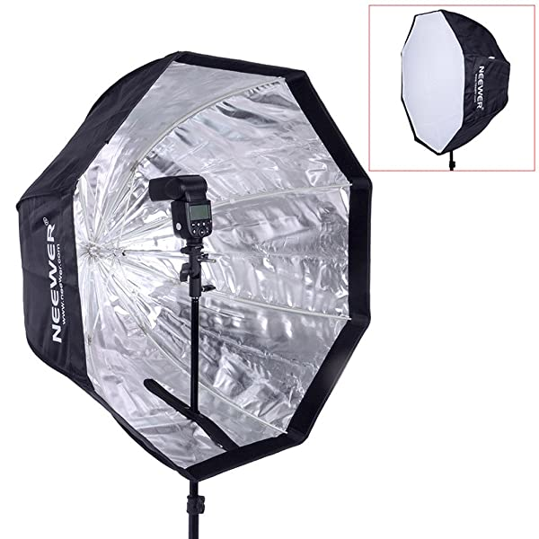 NEEWER SPEEDLITE OCTOGONAL DE 47 /120 CM, FLASH ESTUDIO, softbox para paraguas velocidad de la luz con bolsa para retrato o fotografía de producto