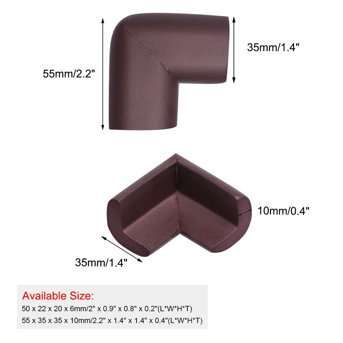 Amazon.com: ZCHXD 8 Pack Foam Furniture Table Edge Cover ...