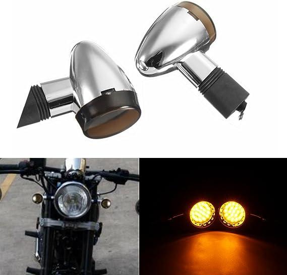 Alamor Motorrad Chrome Rauch Bullet Led Blinker Blinker Cafe Racer Licht Custom Küche Haushalt