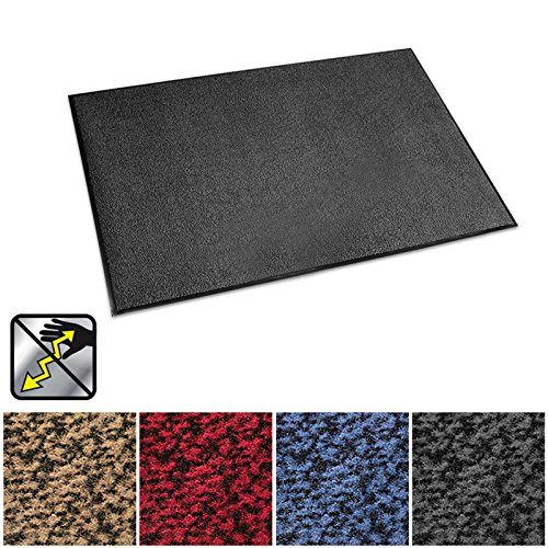 casa pura Anti-Static Entrance Mat | Indoor and Outdoor Front Door Mat | Entry Rug for Home and Business | Anthracite | 24