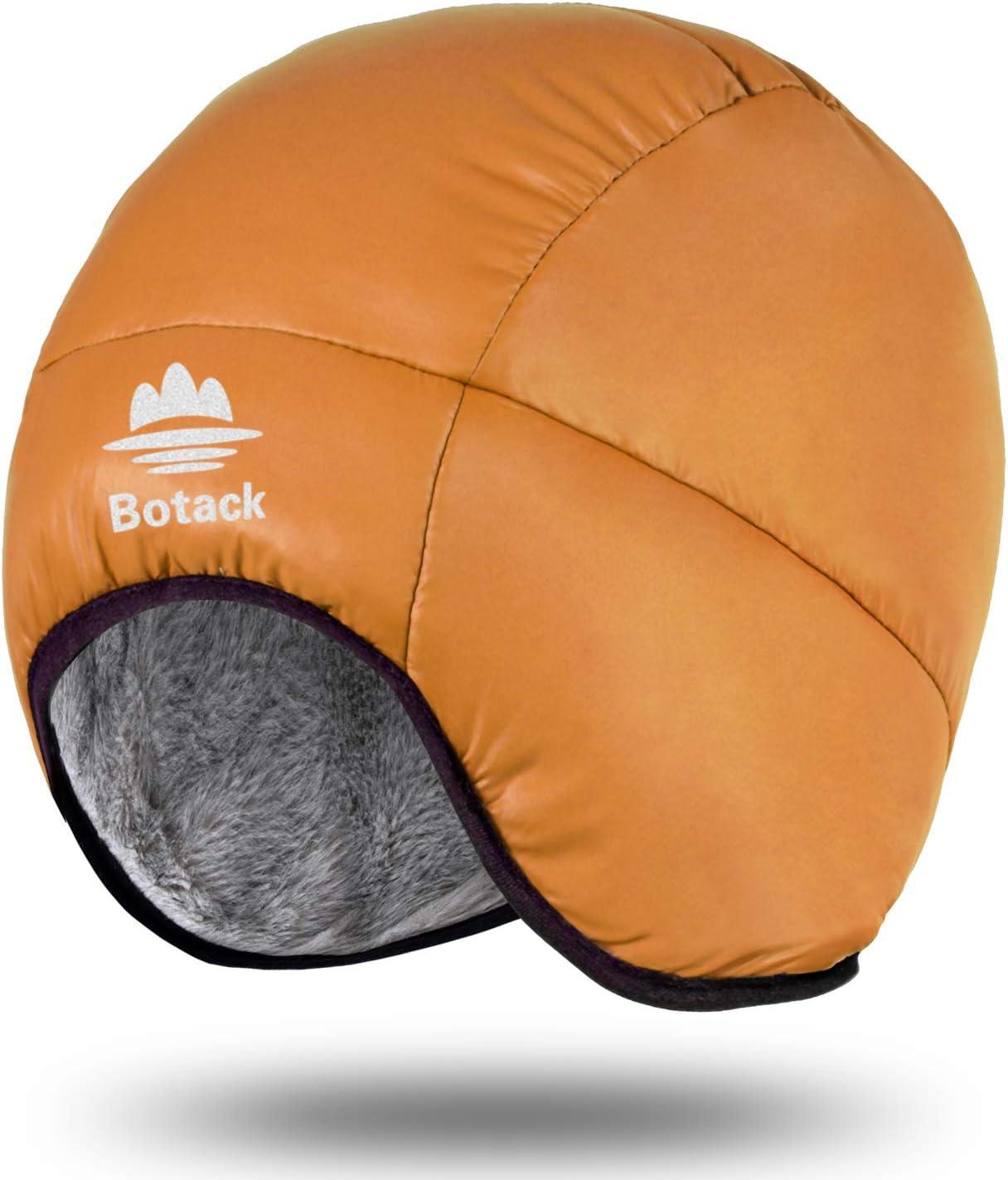 Botack Winter Warm Earflap Down Hat Slouchy Rabbit Fur Cap Windproof Coldproof Beanie Hat for Men Women