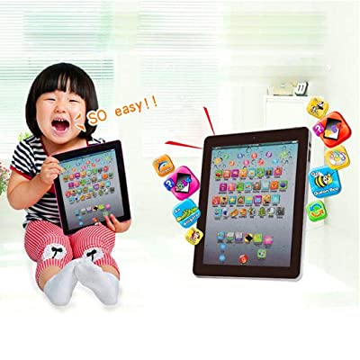 fercisi Kids Pad Toy Pad Computer Tablet Education Learning Education Machine Touch Screen Tab Electronic Systems: Kitchen & Dining