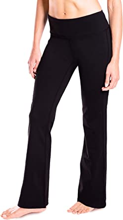 Amazon Com Yogipace 27 28 29 30 31 32 33 35 37 Inseam Petite Regular Tall Women S Bootcut Yoga Pants Long Workout Pants Clothing