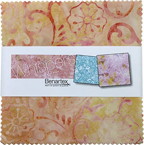 Bali Batik Whispers 5X5 Pack 42 5-inch Squares Charm Pack Benartex - Bali Comforter