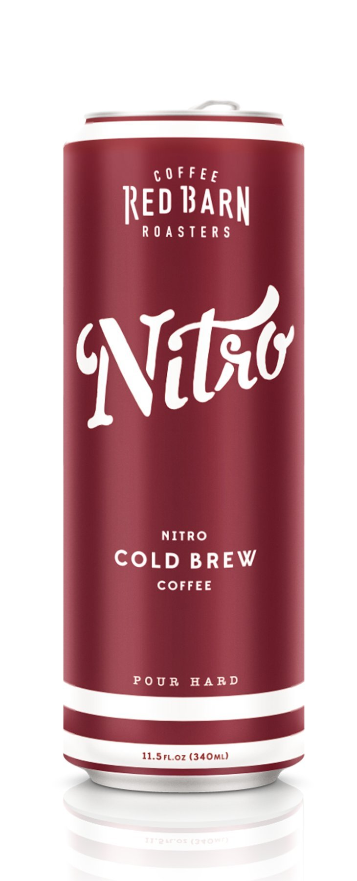 Nitro Cold Brew Coffee (12 11.5 fl. oz. cans) | Red Barn Coffee Roasters | Shelf Stable - No Preservatives | 3 Ingredients - Coffee, Water, Nitrogen | 240 MG Caffeine by Red Barn Coffee Roasters