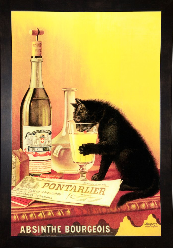 Absinthe Bourgeois Framed Print 22.50''x15.00'' by Vintage Apple Collection